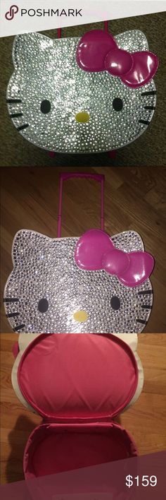 Gorgeous Blinged Out Hello Kitty Rollaway Bag  Beautiful bag perfect gift!! Hello Kitty Bags Travel Bags
