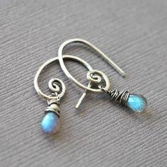 fancy earwires, simple earrings