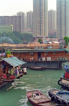 Aberdeen floating village. by Yvon from Ottawa, via Flickr  Hong Kong