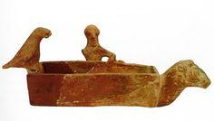 Hittite, rhyton, ram-headed little tub , man and bird figüre, Kültepe- Kaniş, 1945-1830 BC, Museum of Anatolian Civilisations, Ankara