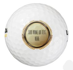 Personalized Golf Balls.  Makes a great gift. Change the text on this set of Wilson Ultra 500 Distance Golf Balls (3 pack). The Wilson Ultra 500 Distance is built with a high energy core that transfers all the energy from your swing into pure, straight distance off the tee https://www.zazzle.com/personalized_golf_balls-256715694934998788 #golf #golfing #golfballs #giftideas #gifts