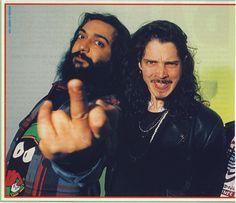 Chris Cornell and Kim Thayil
