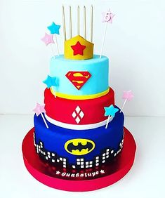 Superhero Girl Cake Birthday Cake, Desserts, Kids, Food, Tailgate Desserts, Young Children, Deserts, Boys, Birthday Cakes