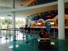 Registration area in lobby at Universal Cabana Bay Beach Resort