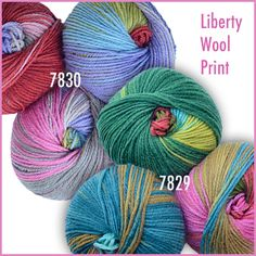 New Liberty Wool Print colors for May - Floral Halllucination & Sugar Spun.