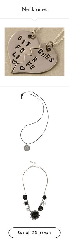 """""""Necklaces"""" by music-freak-fangirl ❤ liked on Polyvore featuring jewelry, necklaces, accessories, stainless steel ball chain necklace, stainless steel heart necklace, letter charm necklace, heart pendant, charm pendant necklace, cord necklace and hot topic"""