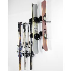 This ski and snowboard rack will file away your family's snow bunny goods.   27 Insanely Clever Things To Finally Organize Your Messy Garage