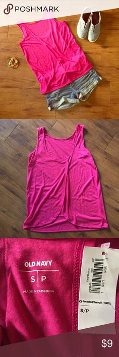 Pink Tank Top NWT. Size S. Perfect with jeans or shorts. Open back. **Cheaper on Ⓜ️**. Old Navy Tops