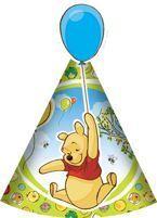 Super czapeczka! Kubuś Puchatek z niebieskim balonikiem :)