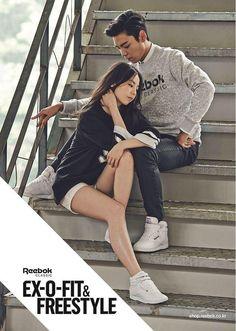 TOP and Sohee Reebok