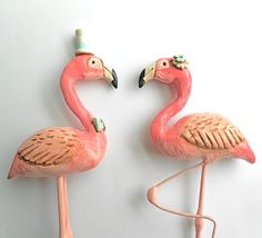 Pink flamingo's in Love Wedding cake topper