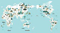Folio illustration agency, London, UK | Slideshow: Maps