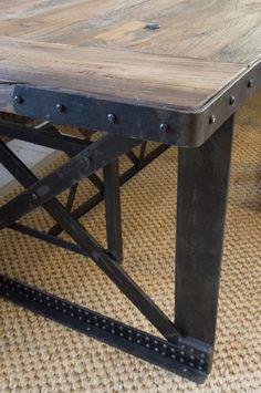 Metal detail of table