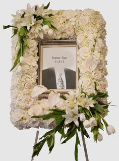 Send Funeral Picture Frame in Santa Fe Springs, CA from Le Fleur Floral Couture, the best florist in Santa Fe Springs. All flowers are hand delivered and same day delivery may be available. Funeral Floral Arrangements, Church Flower Arrangements, Beautiful Flower Arrangements, Casket Flowers, Funeral Flowers, Funeral Bouquet, Funeral Planning, Funeral Ideas, Flower Picture Frames