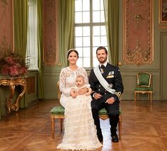 Princess Sofia, Prince Carl Phillip at their son, Prince Alexander's christening