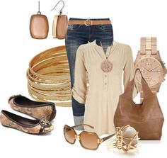 """""""Tory Burch Flats"""" by hope-houston on Polyvore"""