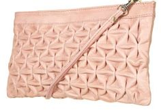 PINCHED LEATHER CLUTCH BAG