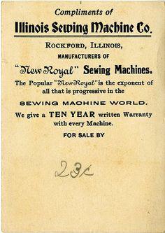 Illinois Trade Card - back