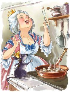 Chef Pictures, Art Pictures, Art Qoutes, Decoupage Vintage, Kids Story Books, Digital Art Girl, Cross Paintings, Illustrations, Magazine Art
