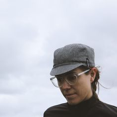 Relm Cycling tweed look cycling cap in grey.