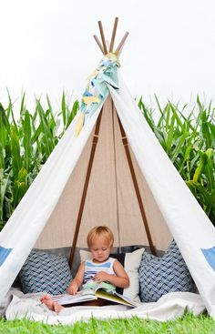 No-Sew Teepee   DIY Backyard Projects To Try This Spring   DIY Projects