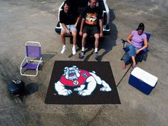 Fanmats Alabama Crimson Tide Tailgater Mat  http://allstarsportsfan.com/product/fanmats-alabama-crimson-tide-tailgater-mat/?attribute_pa_color=fresno-state-bulldogs  Made in USA; Height 72 in.; Width 0.5 in.; Shipping Method UPS/FedEx; Shape Rectangle; Material 100% Nylon Theme Sports Type Mat