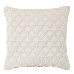 Alessandra Ivory Pearl Quilted Cushion