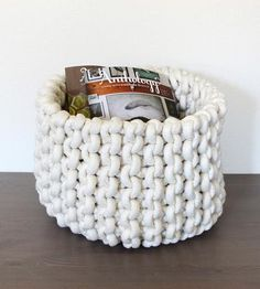 Large Knit Rope Basket   Corral all the items in your home that need a place to live wi...   Baskets