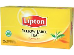 LIPTON Tea Yellow Label, 1.8 gram per bag, 10 x pack 100... #Lipton