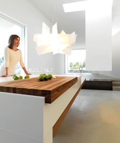Have always wanted a butchers block cover like this to put over cook top/range on an island to create more workspace!