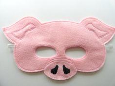 Schwein-Maske von JulieMarieKids auf Etsy