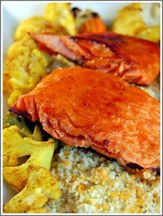 Sriracha & honey glazed salmon