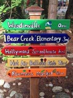 directional signs for outdoors
