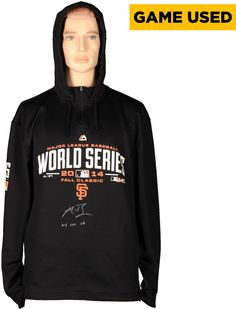 Madison Bumgarner San Francisco Giants Autographed Black World Series Game Used Sweater with WS GU 14 Inscription