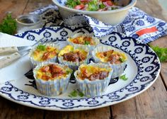 Lavender and Lovage | A Secret Recipe: Baked Mini Cheese and Onion Omelettes | http://www.lavenderandlovage.com