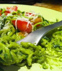 "Pesto with Zucchini ""Noodles"" – Hip2Save"