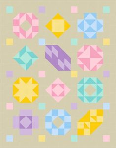 Patisserie BOM quilt design v1 using EQ8 by BlossomHeartQuilts.com