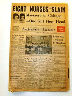 1966 nurse murders | 14 1966 Richard Speck Murders 8 Nurses in Chicago 8 Nurses Murdered ...