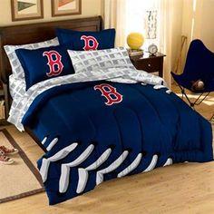 Boston Red Sox 7-Piece Full Size Bedding Set #Fanatics #PinForPresents