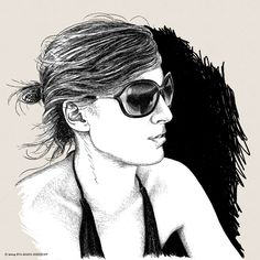 Swantje by Eva-Maria Birkhoff Book Illustration, Surface Design, Pattern Design, Ruffle Blouse, Disney Princess, Disney Characters, People, Portraits, Women