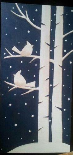 paper window silhouette winter decoration craft idea