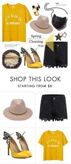 """Rosegal #12"" by alexandrazeres ❤ liked on Polyvore featuring Monki, STELLA McCARTNEY, yellow, rosegal and butterflyshoes"