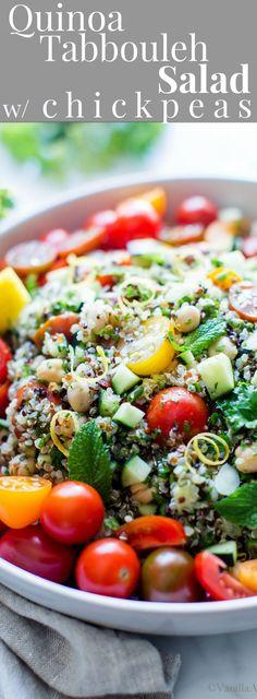 963020 best favorite food bloggers images on pinterest kitchens quinoa tabbouleh salad with chickpeas summersalad glutenfree vegetarian vegan plantbased vegan quinoa recipesbest forumfinder Image collections