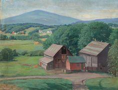 Karl Albert Buehr - 'Vermont farm'