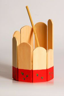 Musical toy, Red Round Xylophone, eco friendly toy, Gift for Children, Wood toy