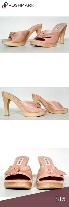 f2c731b0dea9 STEVE MADDEN Womens Pink Heels Sandals Size 7.5 In Good Condition. Very  Adorable. A