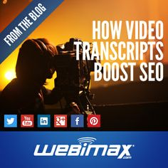 Use video transcripts to boost your #SEO. Learn more here!