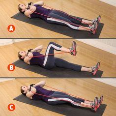 bande elastique de fitness  6 exercices avec elastiband