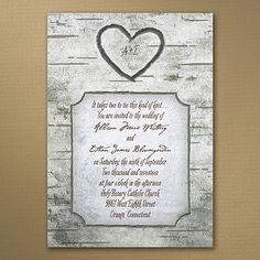 Woodsy Monogram Rustic Wedding Invitations  http://partyblock.carlsoncraft.com/catalog/search.cmd?keyword=13232