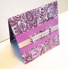 Classic lavender purple and silver paisley by SnowcaptDesigns